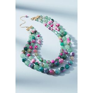 NWT Anthropologie layered marbles necklace
